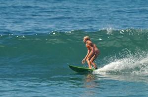 girl surfing burros puerto vallarta surf