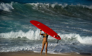 girl longboard sayulita surf puerto vallarta